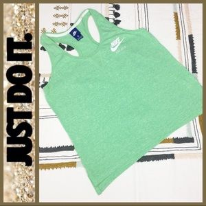 [ NIKE ] Just Do It Green Razor Back Workout Top L